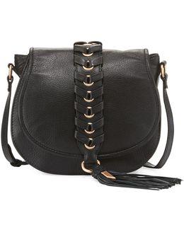 La Trenza Leather Saddle Bag