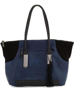 Camden Suede-trim Tote Bag