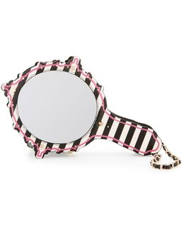 Kitsch Mirror Striped Wristlet