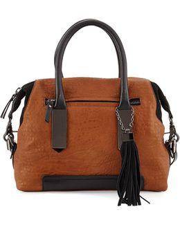 Camden Suede-trim Satchel Bag