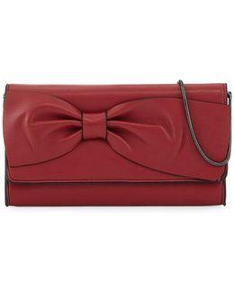 Olivia Bow-embellished Clutch Bag