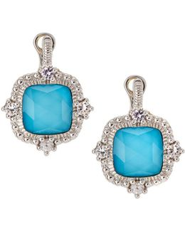 La Petite Imitation Turquoise Doublet Drop Earrings