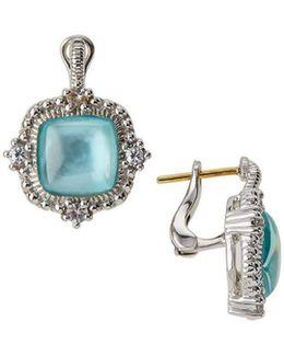 La Petite Mother-of-pearl Cushion Drop Earrings