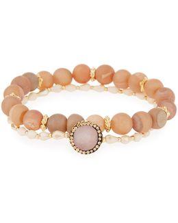 Druzy & Crystal Stretch Bracelets