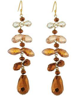 Cascading Crystal Dangle Earrings