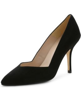 Steph Suede Pointed-toe Pump