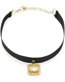 Asscher-cut Crystal Choker Necklace