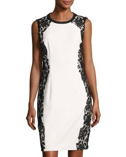 Doris Lace-trim Sheath Dress