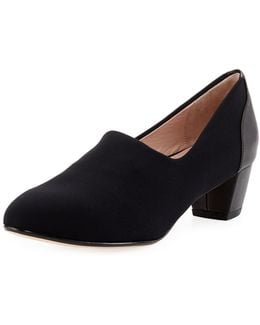 Fiona Stretch Low-heel Pump