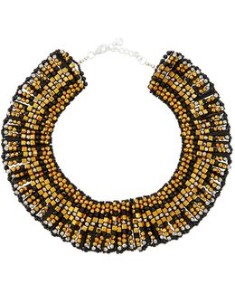 Beaded Statement Collar Necklace