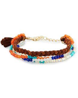 Multi-row Stone Beaded Bracelet