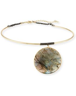 Statement Labradorite Choker Necklace