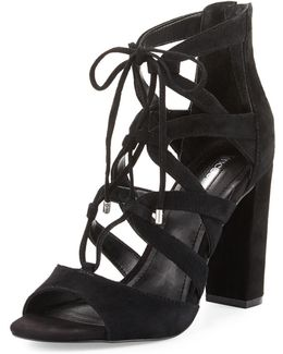 Rameena Suede Lace-up Sandal