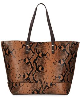 Beckett Snake-embossed Leather Tote Bag