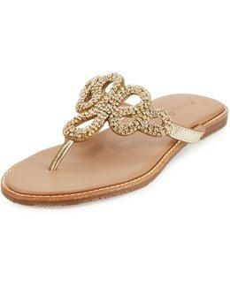 Yohkoh Crystal Thong Sandal
