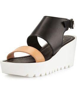 Apria Leather Wedge Sandal