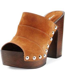 Ellina Suede Studded Platform Sandal