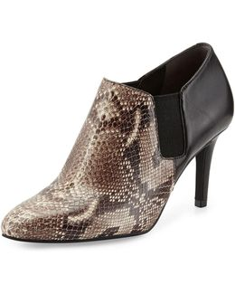 Maxfield Natural Snake-print Leather Bootie
