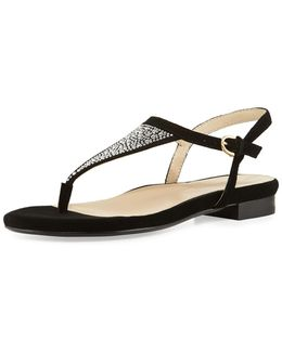 Ibsen Bejeweled Thong Sandal
