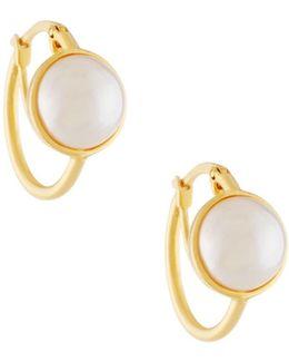 Mabe Pearl Hoop Earrings