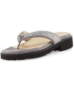 Tara Suede Thong Sandal