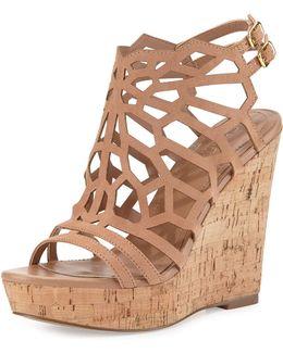 Apollo Laser-cut Wedge Sandal