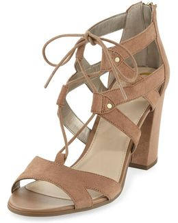 Emilia Micro-suede Lace-up Sandal