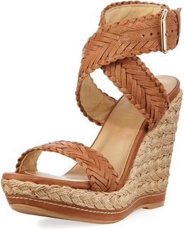 Remedy Leather Wedge Sandal