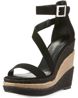 Thunder Micro-suede Wedge Sandal