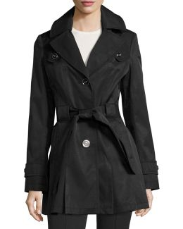 Water-resistant Belted Trench Coat