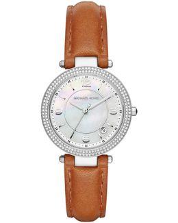 33mm Mini Parker Glitz Watch W/ Leather Strap