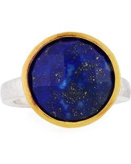 Amulet Hue Large Round Lapis Ring