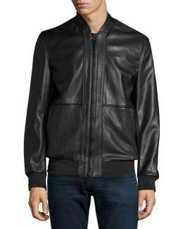 Edison Faux-leather Bomber Jacket