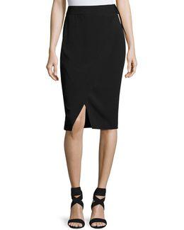 D-ring Faux-wrap Skirt