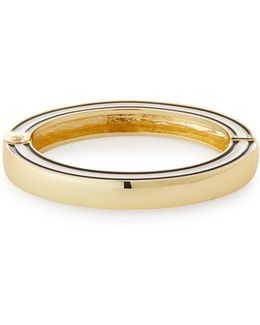 Enamel Hinged Bangle Bracelet