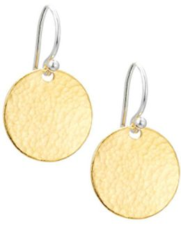 Small Flake Disc Drop Earrings