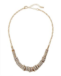 Pave Crystal Ring Necklace