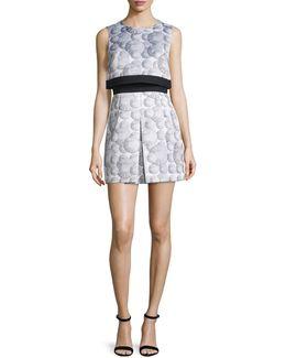 Printed Popover Mini Dress
