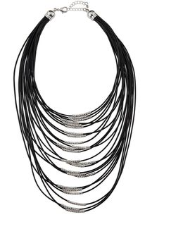 Multi-strand Cord Statement Necklace