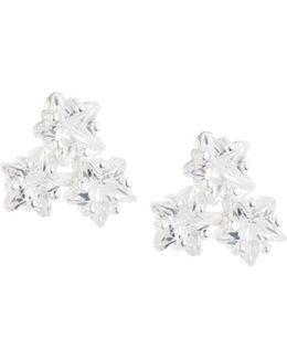 Triple-star Cz Stud Earrings