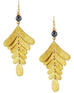 Hammered 6-tier Dangle Earrings