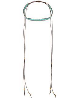 Long Beaded Lariat Choker Necklace