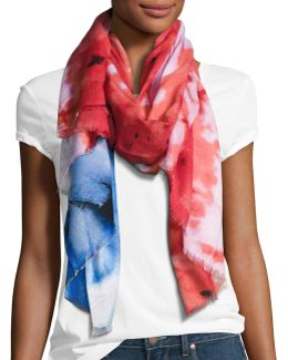 Abstract Tie Dye Flat Scarf