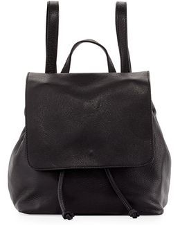 Dollaro Flap Leather Backpack