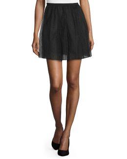 Point D'esprit A-line Skirt