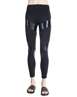 Compression Fitted Sport Ankle Pants