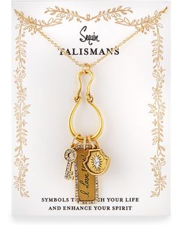 I Love You Talisman Charm Necklace