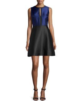Eliza Colorblock Fit-&-flare Dress