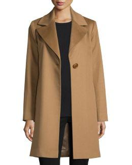Wool Single-button Coat