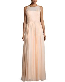 Penelope Sleeveless A-line Gown